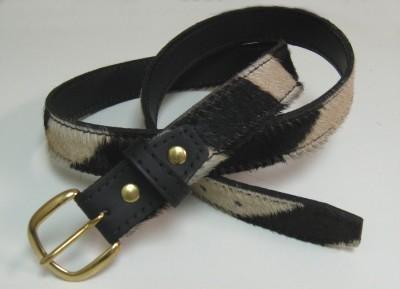 Burchell Zebra Hide Belt