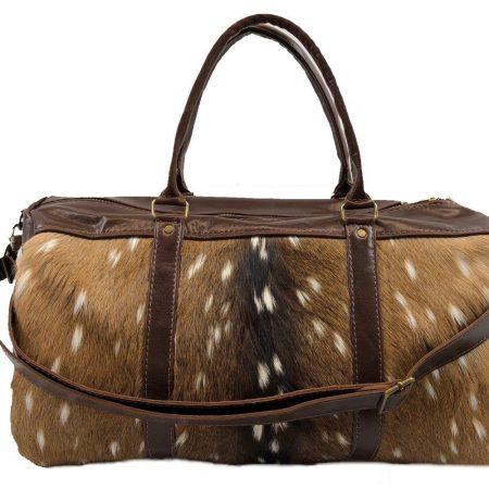 Axis Deer Hide & Leather Duffel Bag