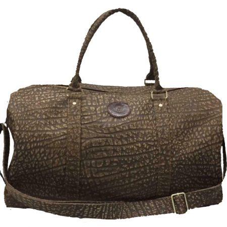 Black or Brown Cape Buffalo Hide Duffel Bag