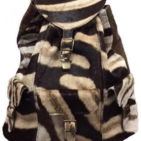 Burchell Zebra & Cape Buffalo Hide Expedition Backpack