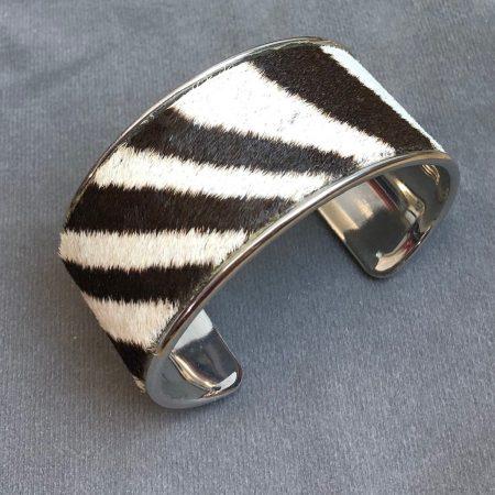 Burchell Zebra Hide Channel Cuff / Bracelet