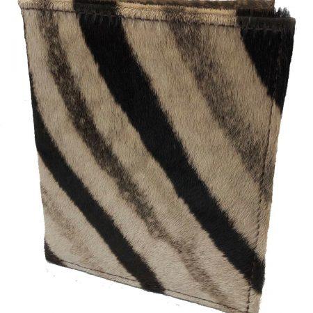 Genuine Zebra & Cape Buffalo Hide Folio / Notepad