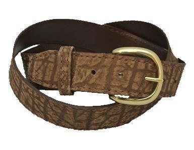 Genuine Cape Buffalo Hide Belt - Brown & Black