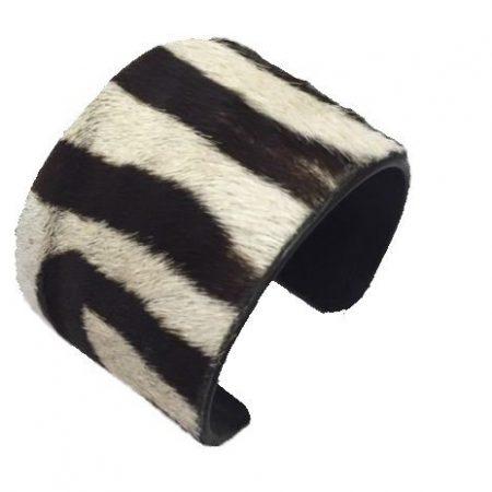 Burchell Zebra Hide Cuff