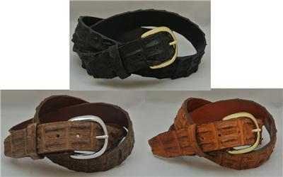 Nile Crocodile Hornback Skin Belt