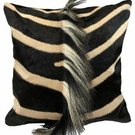 Zebra square pillow